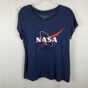 Wound Up shirt NASA logo blue graphic XXXL(21)